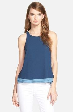 cooper+&+ella+'Makayla'+Layered+Racerback+Tank+available+at+#Nordstrom