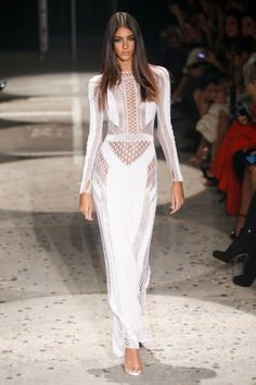 Julien Macdonald - We love this beautiful white gown with open sections #glamourous...x