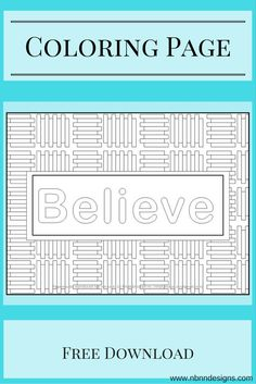 Believe - Free Coloring Page Download www.nbnndesigns.com Free Coloring Pages, Bracelet Patterns, Free Pattern, Knitting Patterns, Believe, Make It Yourself, Design, Knit Patterns, Free Colouring Pages