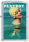 Zippo Playboy August 1962 Cover Satin Chrome Windproof Lighter NEW RARE