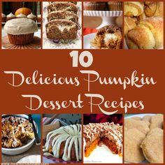 10 Delicious Pumpkin Dessert Recipes
