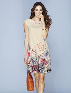 ボタニカルプリントワンピース | 女性ファッション通販サイトFABIA(ファビア)