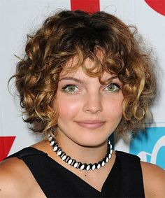 Camren Bicondova Hairstyle – Short Curly Casual – Dark Blonde Source by Short Curly Haircuts, Curly Hair Cuts, Short Hair Cuts, Curly Hair Styles, Hairstyle Short, Decent Hairstyle, Curly Short, Medium Curly, Long Pixie
