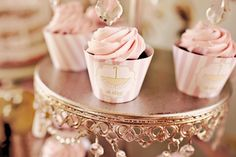 Inspiration for a Princess Tea Party Birthday from princess party decor to a royal food menu and princess cake painting! Sprinkle Shower, Baby Sprinkle, Pink Cupcakes, Cupcake Cakes, Cupcake Tree, Cupcake Wraps, Candy Cakes, Chocolate Cupcakes, Mini Cakes