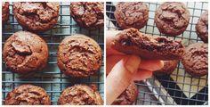 Vynikající čokoládové cookies, které vás posadí na zadek Czech Recipes, Russian Recipes, Brownie Cookies, Cupcake Cookies, Cupcakes, Cooking Cookies, Sweet Cookies, Sweet Recipes, Banana Bread