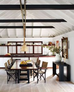 Interior + furniture designer Christian Liaigre's St. Barts home