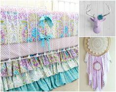Lavender Boho Baby Girl Crib Bedding Purple baby bedding girls - http://babyfur.net/lavender-boho-baby-girl-crib-bedding-purple-baby-bedding-girls/