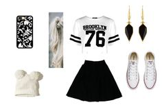 """""""More Black and White"""" by mtaylor22 on Polyvore featuring Chanel, Boohoo, Hollister Co., Converse and Isabel Marant"""