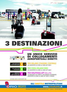 3 lines, 1 direct service to Milan!
