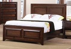 Jerico Casual Maple Oak Wood Twin Panel Bed