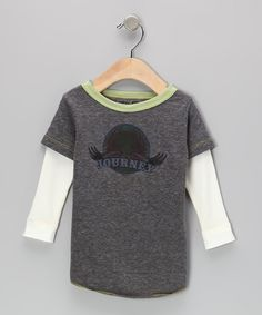 Gray & Green 'Journey' Layered Tee - Infant, Toddler & Kids | Daily deals for moms, babies and kids
