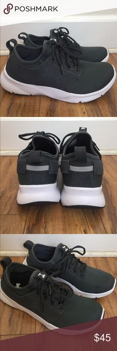 UNDER ARMOUR WOMENS Great condition, looks like new, I only used them maybe like 4 or 5 times, only shows signs of wear on the soles, but the top part and inside looks  like new, Super soft, Comfortable, light weight, I just have so many pairs  and I don't really used this ones, any questions let me know. Under Armour Shoes Athletic Shoes