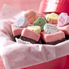 Valentine's Conversation Hearts Fudge