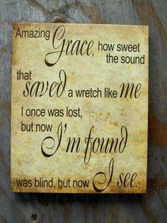 Amazing Grace 12x15 Canvas Wrap by kisstheskyshop on Etsy, $45.00