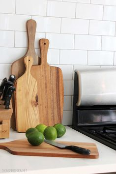 wood paddle cutting boards #kitchen