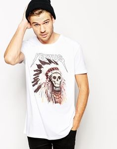 ASOS+Longline+T-Shirt+With+Kanye+West+Print+And+Skater+Fit $30.47