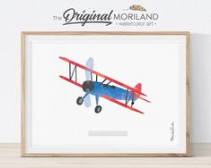 Airplane Print, Aircraft Decor, Biplane Wall Art, Plane Nursery Wall Art, Transportation Decor, Kid Wall Art, Printable, Boy Print, Vintage