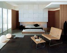 interlocking tiles flowing dark bright wood look
