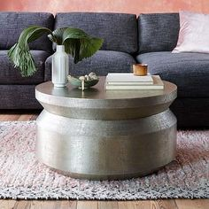 Hammered Metal Accordion Coffee Table #westelm