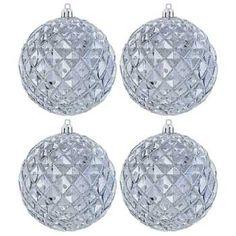 Gunmetal Ball Ornaments with Diamond Shapes