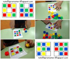 Math For Kids, Games For Kids, Activities For Kids, Visual Perceptual Activities, Sorting Activities, Cubes Math, I Love Math, School Clipart, Worksheets For Kids