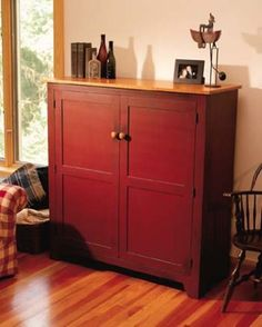 """75 - Storage Cabinet - This plan originally appeared as """"Shaker Storage Cabinet"""" in Popular Woodworking Magazine. It was used without attribution in #MyShedPlans """"220 Woodworking Projects"""""""