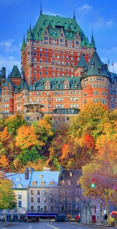 Even prettier in person.Quebec - High on a bluff, overlooking the St. Lawrence Rivers is the grand old dame of Quebec, The Fairmont Le Chateau Frontenac. Places Around The World, The Places Youll Go, Places To See, Around The Worlds, Chateau Frontenac Quebec, Dream Vacations, Vacation Spots, Wonderful Places, Quebec City