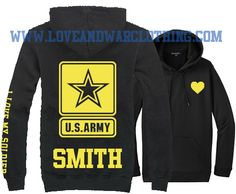 LOVEANDWARCLOTHING - I love my Soldier U.S. Army custom name Top, $28.95 (http://www.loveandwarclothing.com/i-love-my-soldier-u-s-army-custom-name-top/)