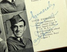 Zamperini's entry in the Torrance High yearbook listed his record mile among his accomplishments.