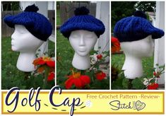 Golf Cap - Free Crochet Pattern - Review - Stitch11