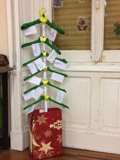 L'albero natalizio dei desideri realizzato da bambini di una classe 4 di scuola primaria!!!!