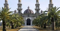 This is El Palmar de Troya's basilica, the seat of the Palmarian Catholic Church, a pro-fascist cult in southern spain that is extremely creepy, all its members live isolated from society in the compound surrounding their pope's basilica , and they revere Franciso Franco, Spain's former dictator, as a saint