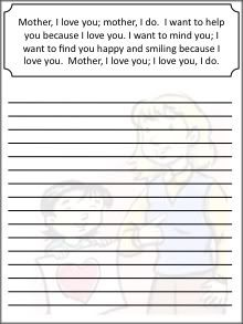 LDS Notebooking: Mother, I Love You Copywork