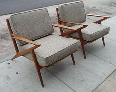 Pair of Selig Z Chairs Mid Century Modern Danish Chairs Danish Teak Chairs Teak Furniture Danish Modern Furniture Poul Jensen