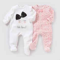 Image Pyjama velours (lot de 2) 0 mois-3 ans R baby