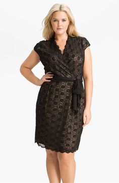 Alex Evenings Surplice Lace Dress (Plus) | Nordstrom