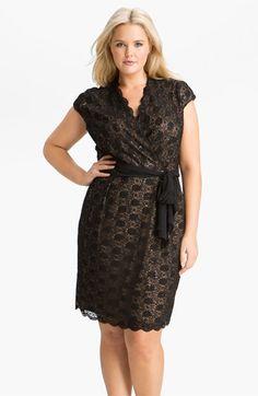 Alex Evenings Surplice Lace Dress (Plus) | Nordstrom