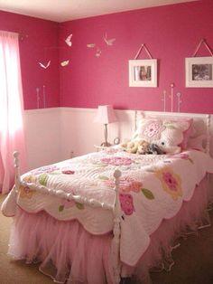 Pink room, flying birds
