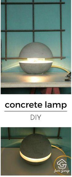Betonlampe DIY - Betonlampe selber machen Concrete lamp make yourself concrete lamp diy, concrete ta Concrete Table, Concrete Design, Ikea, Make A Lamp, Concrete Crafts, Diy Interior, Diy Table, Table Lamps, Home Accessories