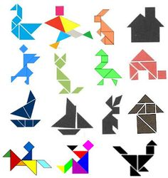 Educadores de Sucesso: Plano de Aula Tangram um excelente instrumento para a aprendizagem . Confira ! ♥