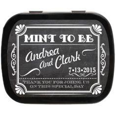 Chalkboard Personalized Wedding Mint Tins