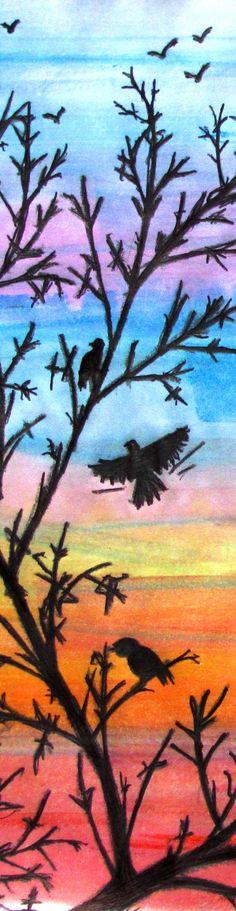 Wonderful drawing of birds in a tree ... freedom!