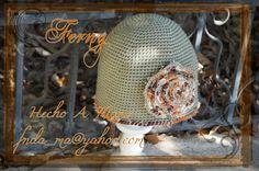 185 Flor en el Olivo de Dany / Dany's Olive Flower   Gorro Dama en Crochet Otoño / Crochet Lady Hat for Autumn  https://www.facebook.com/Ferny.HechoAMano/photos/pb.269222416525542.-2207520000.1423066877./672253809555732/?type=3&theater