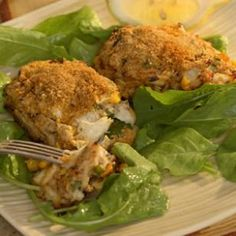 Cajun Crab Croquettes:  Crab cakes get a Louisiana spin with Cajun spice and corn. Although any type of crab works here, we prefer the texture of lump crabmeat. Serve with Zesty Rémoulade Sauce. Make it a meal: Serve on arugula salad.