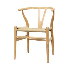 Wood Chair with Hemp Seat | Overstock.com Shopping - The Best Deals on Dining Chairs
