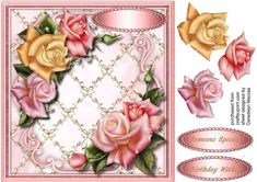 Stunning Downton Roses in a Lattace Frame 2 - CUP727841_1398 | Craftsuprint