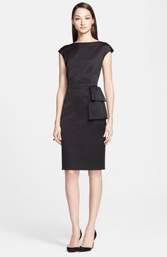Free shipping and returns on St. John Collection Stretch Satin Dress at Nordstrom.com. Folds of fabric below the banded waist add jaunty dimension to a lean and impeccably tailored sheath dress cut from luminous stretch satin.
