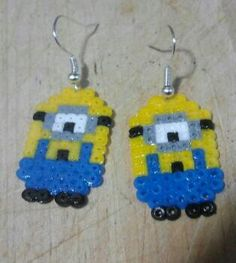 Minion earrings hama beads by Andres Moreno Rodriguez