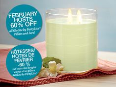 GloLite by PartyLite Jar Candles and Pillars