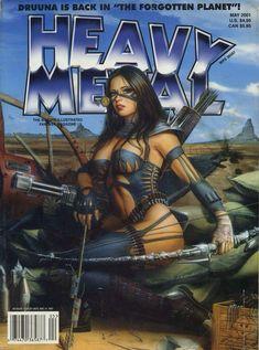 PORTADAS DE COMICS HEAVY METAL - Buscar con Google Fille Heavy Metal, Chica Heavy Metal, Heavy Metal Comic, Heavy Metal Girl, Heavy Metal 1981, Fantasy Art Women, Fantasy Girl, Comics Vintage, Serpieri